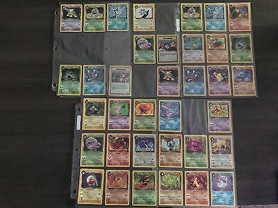 POKEMON CARDS Non-Complete TEAM ROCKET SET 83/82 HOLO BOOSTER BOX EX 72/82 Cards
