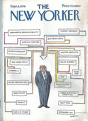 The New Yorker Magazine September 6 1976 Space Station May Swenson