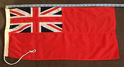 Vintage Red Ensign Flag for Boat/Yacht 71cm x 35cm Stitched Cotton VG Condition