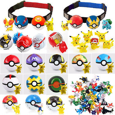 7CM Pokemon Pokeball With Action Figure Plastic Game Ball Pikachu Toy Kids Gifts