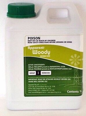 Apparent Woody Herbicide 20 Litre same as Grazon TRICLOPYR PICLORAM Brand New