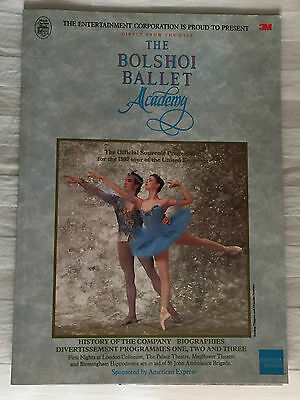 Old Theatre Programme The Bolshoi Academy 1987