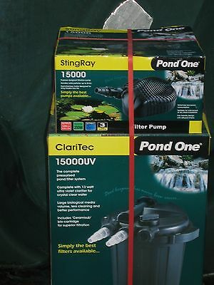 pond one fish pond pump and uvc filter .
