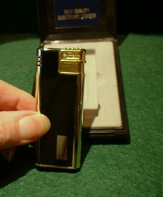 Ronson Soft Flame Lighter In Black & Gold