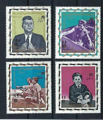 Yemen Kingdom 1965 and 66 - Kennedy stamps and overprints (see all pictures!)