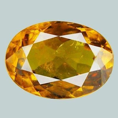 0.96Cts Marvelous Yellow Natural Mali Garnet Oval Gemstones Free Shipping