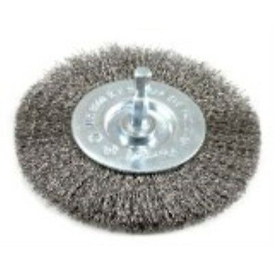 Forney 72740 Wire Wheel Brush, Fine Crimped with 1/4-Inch Hex Shank, 4-Inch-by-.