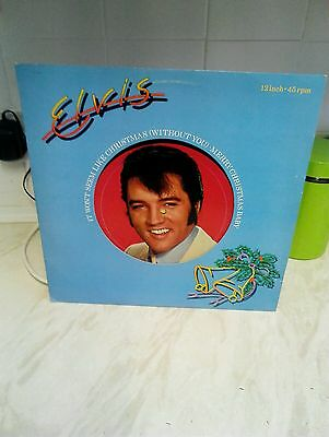 "Elvis presley 12"" Vinyl single- It Wont Seem Like Christmas(Without You)"