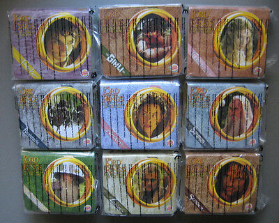 Herr der Ringe Lord of the Rings Burger King 2001 kpl. (9) Sehr selten in OVP