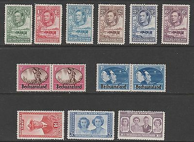 Bechuanaland Protectorate GVI mounted mint stamps (07)