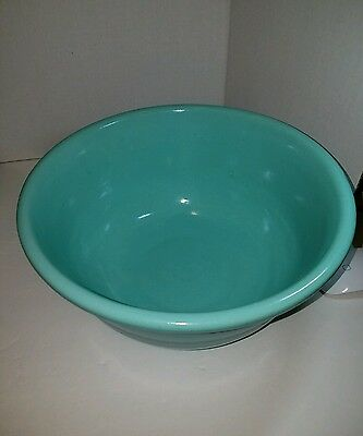 VTG Bauer Large Ringware Mixing Bowl Teal California Pottery Unsigned