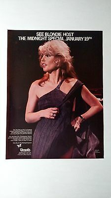 "Blondie ""the Midnight Special"" 1979, Rare Original Print Promo Poster Ad"