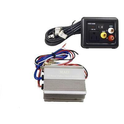 Power Inverter 12 Volt DC to 110V AC 85 Watts with Video Game Port 12V 85W