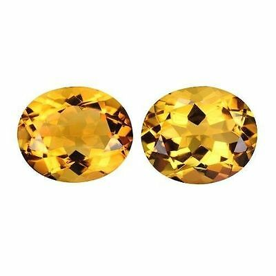 8.970Cts AMAZING LUSTER GOLDEN YELLOW NATURAL CITRINE OVAL LOOSE GEMSTONES