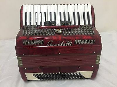 Red Scandalli accordion 80 bass Italy mint condition