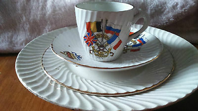 Vintage For Right And Freedom WWl Porcelain set