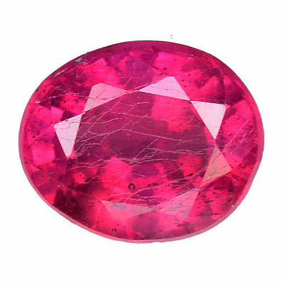 1.600 Cts Marvelous Luster Pink Red Natural Ruby Oval Loose Gemstones