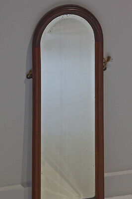 Antique Vintage mahogany hall bevelled mirror - very neat and useful