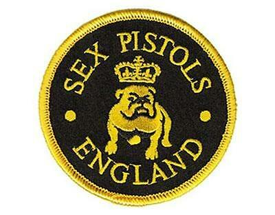 Official Licensed - Sex Pistols - Bulldog Embroidered Sew/iron On Patch Punk