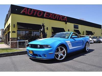 2010 Ford Mustang GT Convertible 2-Door 2010 Ford Mustang ROUSH 427R Manual Convertible GRABBER BLUE FINANCE PRICE