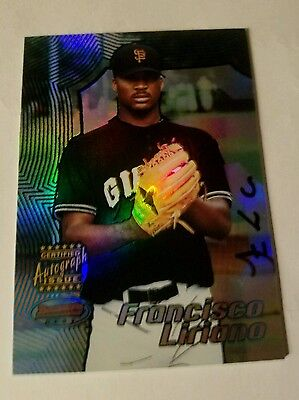 francisco liriano 2002 bowman best #168 certified autograph rookie