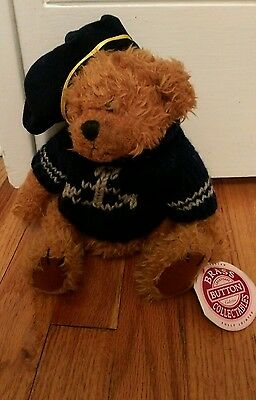 1997 Brass Button Collectables plush teddy bear Tango Of Happiness Navy Sailor