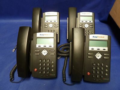 4 Polycom SoundPoint IP 321 RING CENTRAL VoIP PoE Business Phone 2201-12360-001