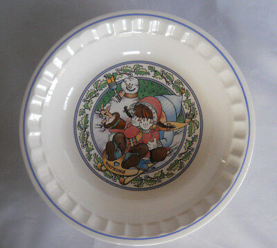 Country Kids Pie Plate 1989 #1 of 5 Christmas Wish Watkins Spices Pie Plate