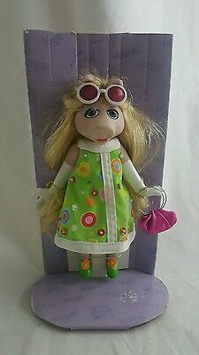 Miss Piggy Ceramic Figure with Green Dress and Pink Bag
