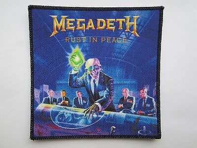 MEGADETH Rust In Peace printed NEW patch thrash metal