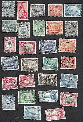 Aden Stamps - Packet of 25+  used & some unused - no duplicates - B6383