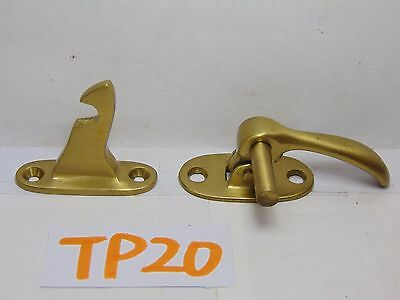 Vintage Solid BRASS Hoosier Cupboard Cabinet Door Latch Offset Mount