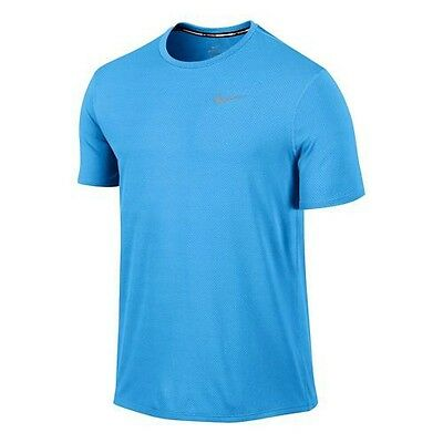 New Mens Nike Dri-Fit Contour Short Sleeve Lightweight Running Top Size Large