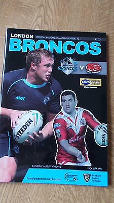 4.8.12 London Broncos v Salford City Reds programme