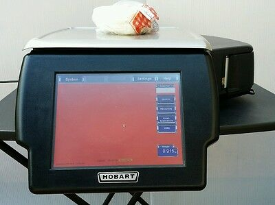 Hobart HLX HLXWM commercial deli scale with printer 2016 certified nice!!