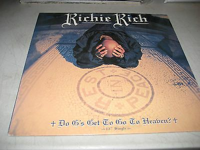 "RICHIE RICH DO G'S GET TO GO TO HEAVEN 12"" Single NM Def Jam 314-574-031-1 1996"