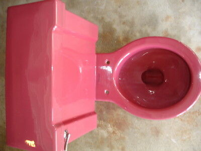 """Vintage  """"STANDARD"""" T'ang Red Toilet"""