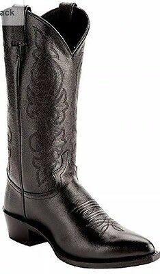 New In Box Justin Black Corona Leather Cowboy Boots #1412 7D