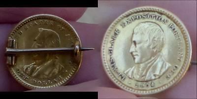 1904 Lewis And Clark $1 Gold Commemorative Pin