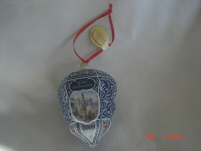 LOVELY 2009 DANBURY MINT First 1st ANNUAL GERMAN ORNAMENT w/ FOIL TAG No Box