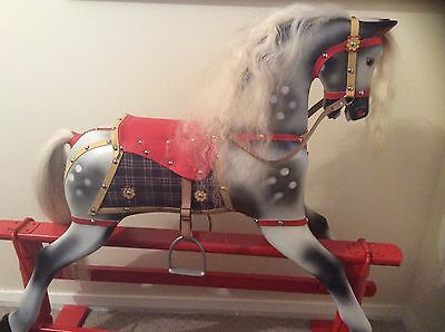 Vintage Roebuck Rocking Horse fully restored  with original stand