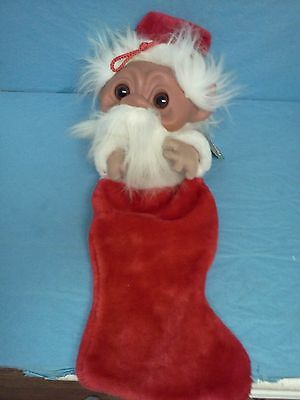 """Vintage Norfin Troll Christmas Stocking New With Tag 25"""""""