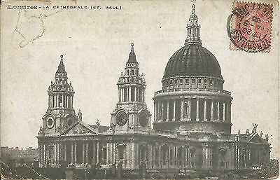 CPA française Londres cathédrale St Paul's cathedral London French postcard 1905