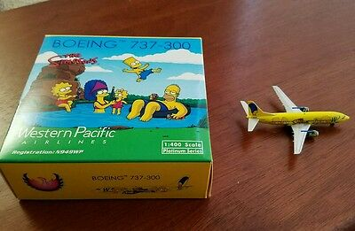 """Western Pacific 1:400 737-300 """"Simpsons"""" by Phoenix"""