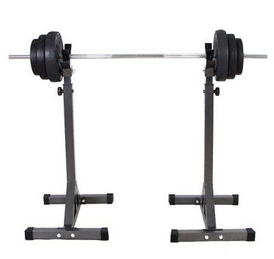 Fitness Squat Stands Home Gym Exercise Adjustable Dumbbell Rack Shelf