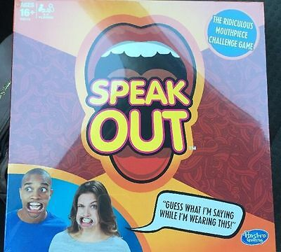JIBBER JABBER SPEAK OUT PARTY BOARD GAME TALK LOUD 5 x MOUTHPIECES -