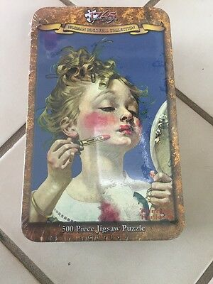 1765 Jigsaw Puzzle Norman Rockwell Collection 500 piece Little Girl In Tin  NEW