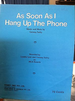 As Soon As I Hang Up The Phone, Conway Twisty, SHEET MUSIC