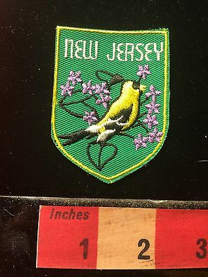 WHITE LETTER VERSION New Jersey State Bird Collector Patch 60C1