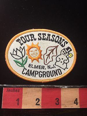 Vtg Elmer New Jersey Patch FOUR SEASONS CAMPGROUND Camp Snowman 60C1